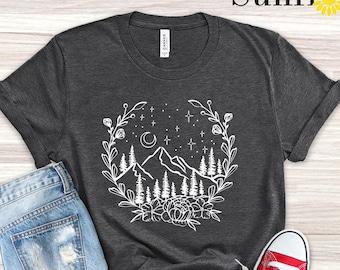 Mountain T Shirt, Camping Girls Shirt, Camping T Shirt, Travel Shirt, Nature T Shirt, Hiking Shirt,Graphic Tee,Shirts for Women,Gift For Her