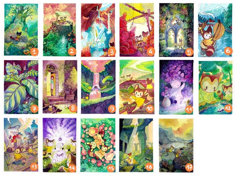 Lot of 5 impressions AL\u00c9ATOIRE  series The elves illustration displays wall decoration