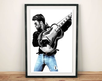 GEORGE MICHAEL WHAM 80s 90s Poster Wall Art Home Photo Print 24x36 inches 538