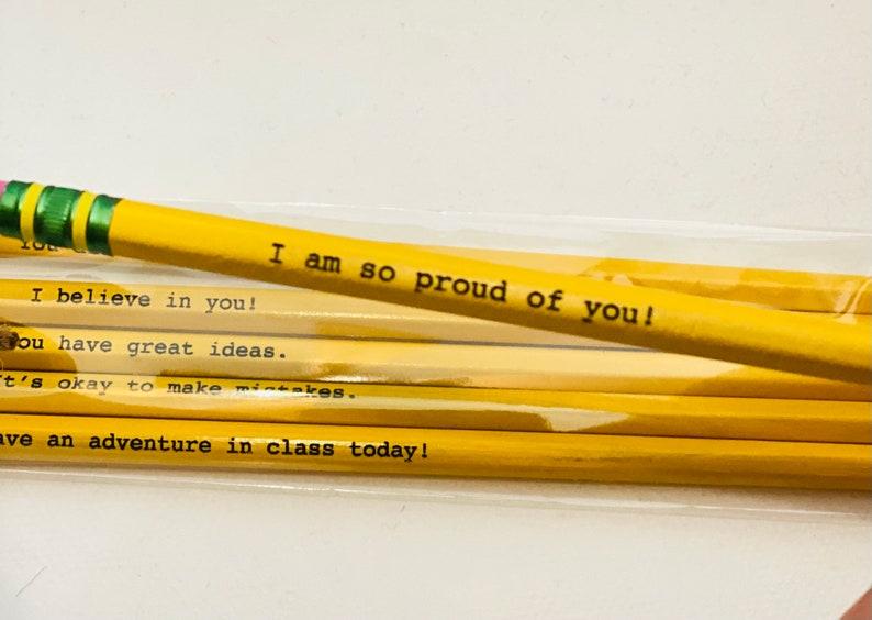 Motivational Pencils  Kids Pencils  Kids Birthday Gift  image 0