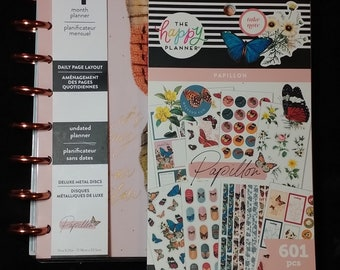 """The Happy Planner 4 month Planner combo with """"601pc Papillon"""" Sticker Sheets"""
