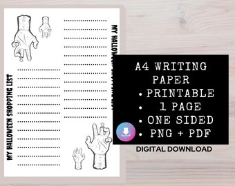 Printable Halloween Paper, Halloween Ephemera, Gothic Paper, Gothic Journaling Supplies, Blank Lined Pages, Junk Journal Printable Pages