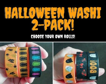 Halloween Washi Tape Set, Spooky Planner Washi Tape, Pick Your Own Washi Tape UK, Planner Stationery, Journal Supplies, Notebook Decor