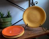 Vintage Fiesta Ware Cake Bread Plates - Original Colors