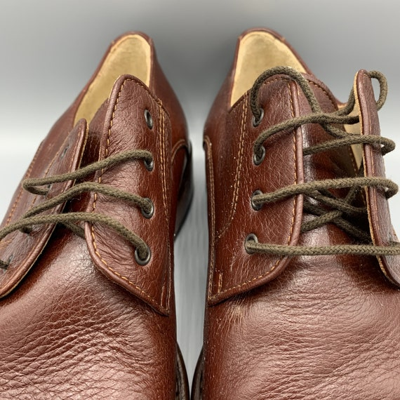 Mens vintage shoes, retro leather mens shoes, made