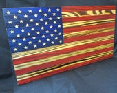10x18 Rustic Wooden Flag