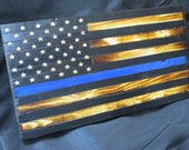 6x12 Rustic Thin Blue Line Flag
