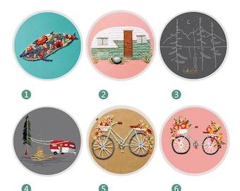 DIY Embroidery Kit For Beginner |Modern Embroidery Kit with Pattern | Embroidery Full Kit Needlepoint Hoop|DIY Craft Kit