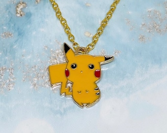Hand-made three-dimensional Pikachu shape necklace pendant sweater chain pendant necklace silver pendant set Valentine/'s Day gift