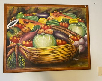Haitian Original Painting. Vegetables Painting