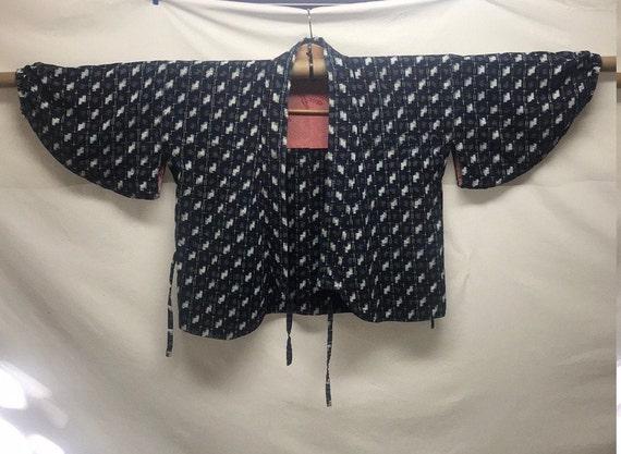 Antique cropped Japanese indigo jacket