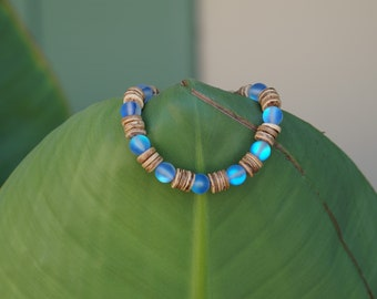 REDUCED Fairtrade Craft Gift African Coco Shell Bead Bracelet Beach Holiday
