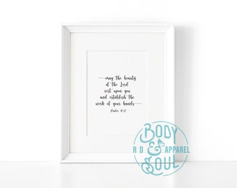 Beauty of the Lord Print, Scripture Print, Body Positive Print.