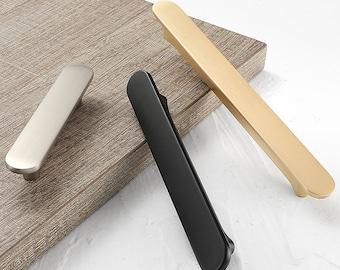 "Modern Design Gold Drawer Wardrobe Pulls Black Dresser Knobs Chrome Brushed Nickel Kitchen Cabinet Pull Handles 2.5"" 3.75"" 5'' 7.55''"