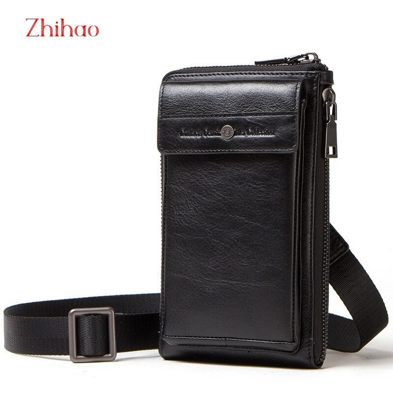 Waist Bag Belt wallet zipper shoulder bag Samsung Xiaomi Oppo Hanmade Huawei Genuine Leather Phone bag case For iphone
