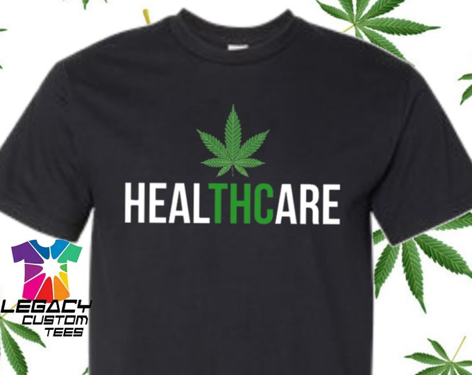 "Legacy Apparel ""HealTHCare"" Cannabis Unisex  Heavy Cotton Adult 6 oz. T-Shirt"