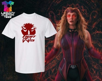 Scarlet Witch (Fight like a Witch) Heavy Cotton Adult Unisex 6 oz. T-Shirt