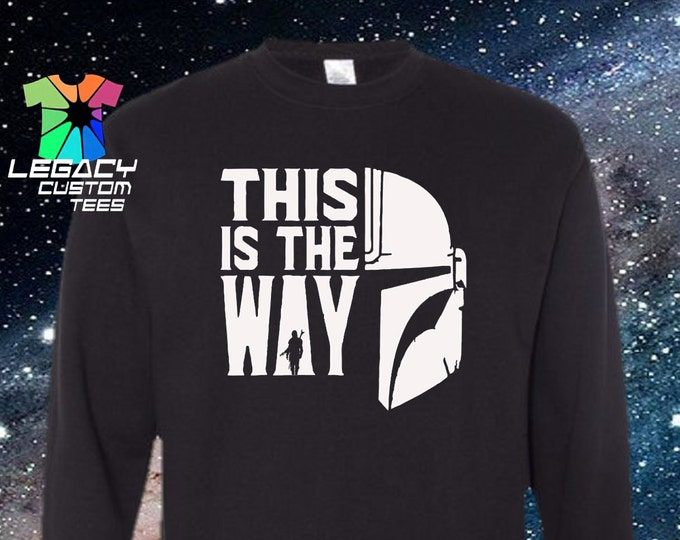Star Wars Mandalorian Unisex Midweight Crew Neck Sweatshirt