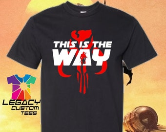 Youth Unisex Mandalorian (Red Skull This is the Way) Heavy Cotton 6 oz. T-Shirt
