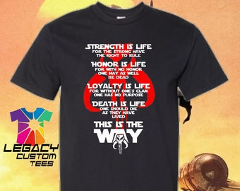 Youth Unisex Mandalorian (Honor Code) Heavy Cotton Youth Unisex 6 oz. T-Shirt