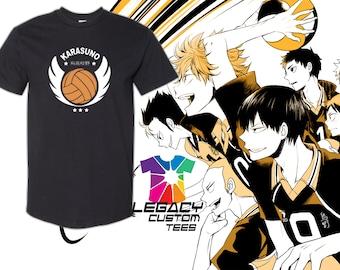"""Haikyu!! (Karasuno School Logo """"カラスの"""") Heavy Cotton Youth Unisex 6 oz. T-Shirt"""