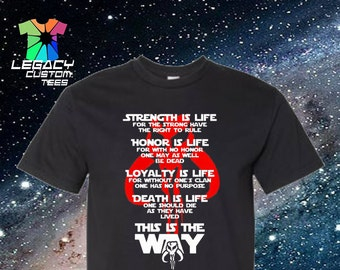 Star Wars Mandalorian (Honor Code) Heavy Cotton Adult Unisex 6 oz. T-Shirt