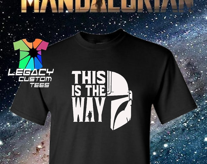 Star Wars Mandalorian (This Is The Way) Heavy Cotton Adult Unisex 6 oz. T-Shirt