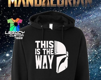 Star Wars Mandalorian (This Is The Way)  Unisex Midweight 8.5 oz Hooded Pullover Sweatshirt