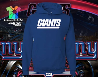 N.Y. Giants Unisex 8.5oz Midweight 100% Cotton Hooded Pullover Sweatshirt