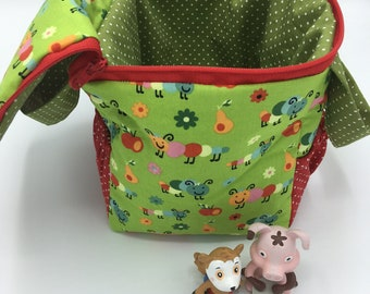 Toniebox bag: happy princess, small caterpillar, also available with zipper