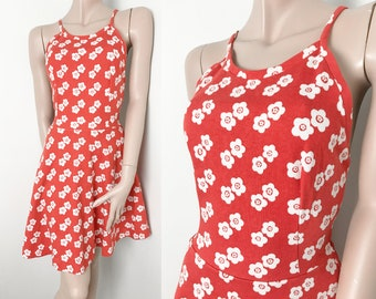 Polka dot dress thrifted in Sweden