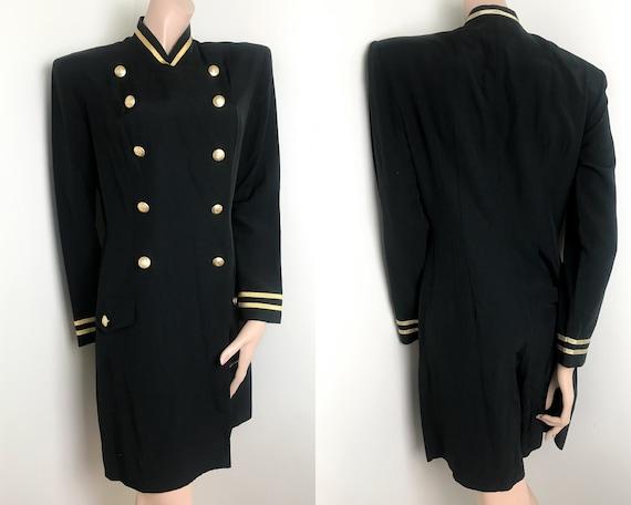Joseph Ribkoff Vintage Skort Dress / Gold Buttons
