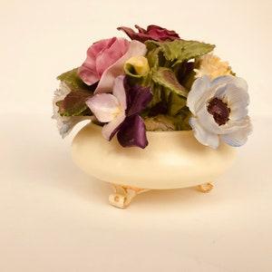 d203 Vintage Royal Adderley Floral Fine Bone China Crown England Flower Pot