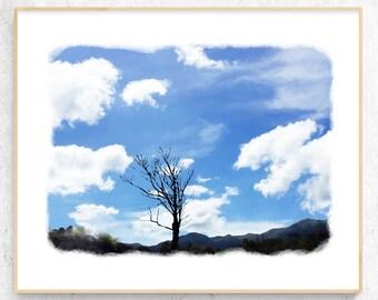River print Sky Wall Art Pastel Photography Sky Printable art Printable Sky Art Sky Wall Decor Above Bed Wall Art