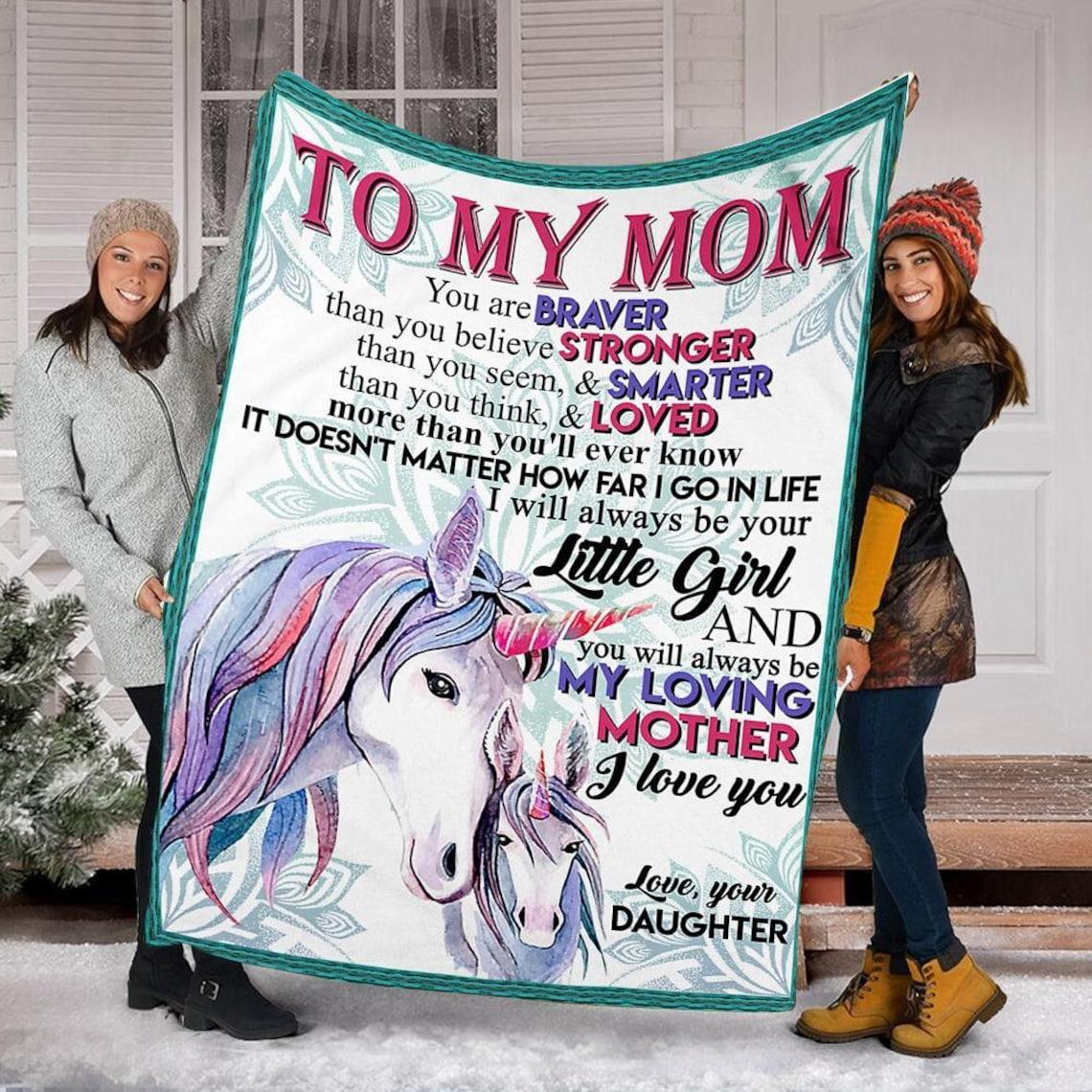 Personalisiert auf meine Mutter Decke Muttertagsgeschenk