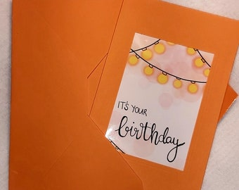 """Card """"It's Your Birthday"""""""