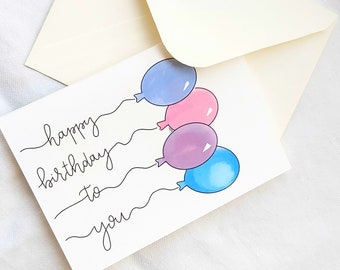 """Folding card for the birthday   """"Happy Birthday To You"""""""