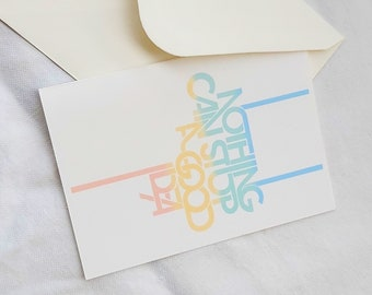 """Folding greeting card   """" Nothing can stop a good idea"""""""