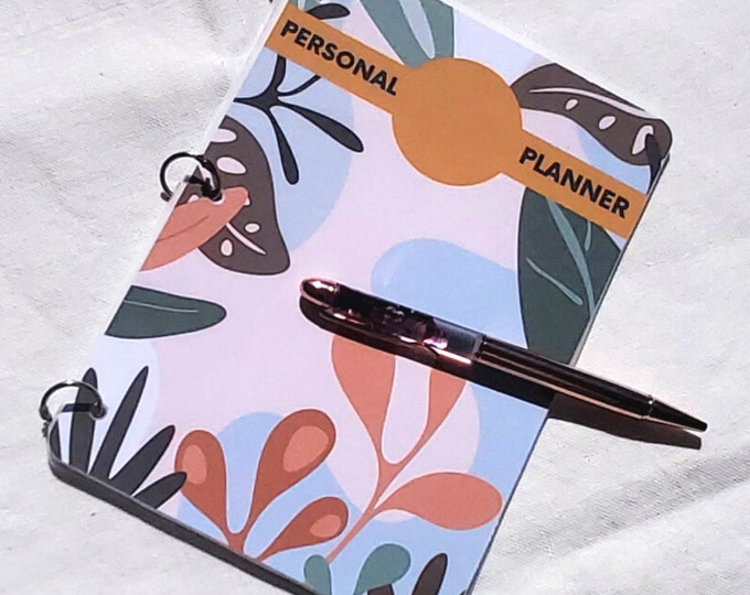Featured listing image: Weekly Planner - A5 Undated Monthly - Weekly Organizer - Jungle - Birthday Gift for Her, Personalized Journal Notebook