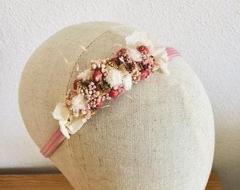 Hair wreath - Dried flower hair wreath - Hair jewelry - Wedding - Baptism - Baby shooting