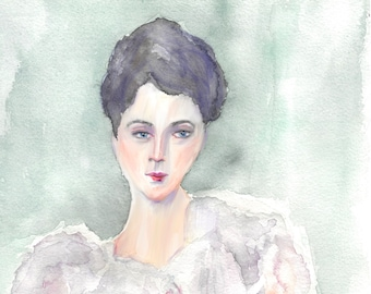 8 X 10 Lady Violet Fine Art Print NO Border