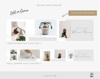 Etsy Banner Template, Etsy Canva Template, DIY Etsy Banner Template