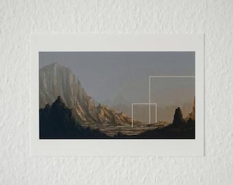 Pixel Art Desert Landscape | Din A4 Art Print