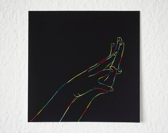 Colorful Hands | Square Art Print
