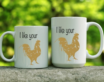 I Like Your Cock mug | Father's Day gift | Gift for Boyfriend | Naughty Gift for Him | Naughty Valentine Gift for Him