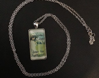 Custom book cover pendant necklace. Gift for writers. Gift for readers.