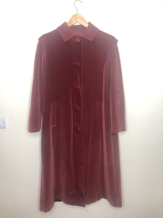 Aquascutum velvet trench coat