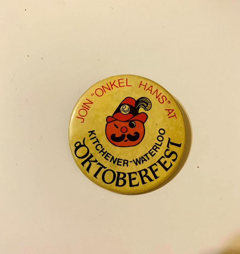 Vintage 70/'s and 80/'s Kitchener-Waterloo Oktoberfest Pushback PinsRetro KW OktoberfestOntario Oktoberfest Pins