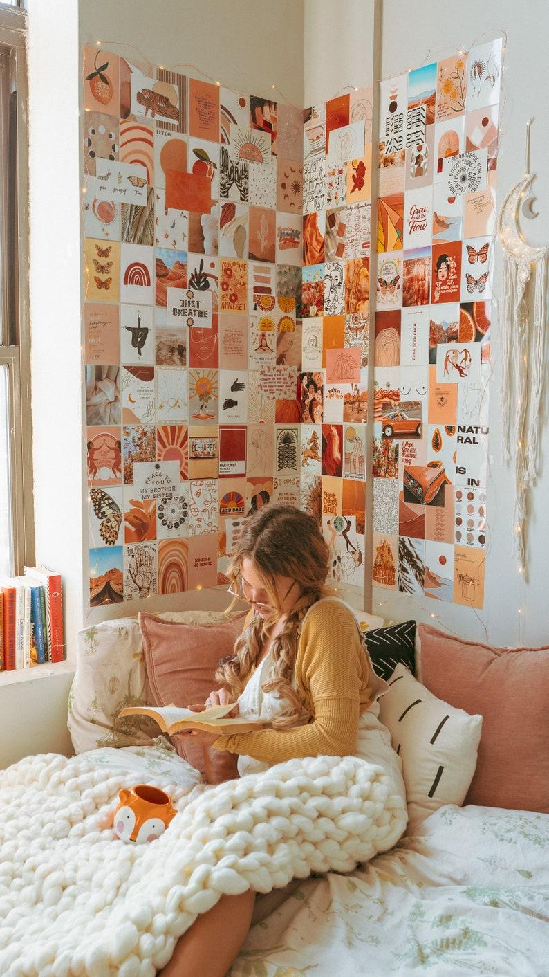 Boho Aesthetic Wall Collage Kit Room Decor Boho Burnt ...