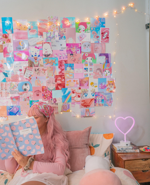 Anime Aesthetic Wall Collage Kit Kawaii Room Decor Anime Etsy
